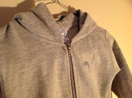 Gray Zipper Up Hoodie Jack Rabbit t Chest w elephant Size 4 whimsical image 3