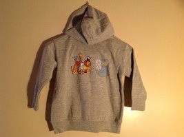 Gray Zipper Up Hoodie Jack Rabbit t Chest w elephant Size 4 whimsical image 5
