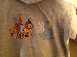 Gray Zipper Up Hoodie Jack Rabbit t Chest w elephant Size 4 whimsical image 7