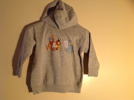 Gray Zipper Up Hoodie Jack Rabbit t Chest w elephant Size 4 whimsical image 8