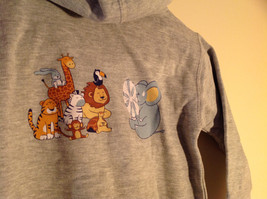 Gray Zipper Up Hoodie Jack Rabbit t Chest w elephant Size 4 whimsical image 6