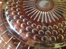 Flat Large Glass Tray Relief on Bottom Bubbles Great for a Party Platter image 3