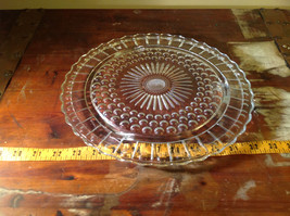 Flat Large Glass Tray Relief on Bottom Bubbles Great for a Party Platter image 8