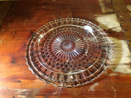 Flat Large Glass Tray Relief on Bottom Bubbles Great for a Party Platter image 7