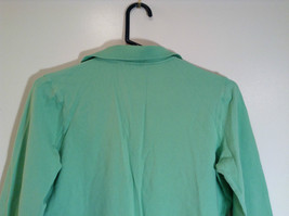 Green IZOD Size M Three Quarter Length Sleeves Collared Polo Top image 6