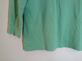 Green IZOD Size M Three Quarter Length Sleeves Collared Polo Top image 7