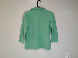 Green IZOD Size M Three Quarter Length Sleeves Collared Polo Top image 5