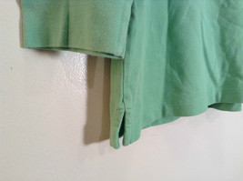 Green IZOD Size M Three Quarter Length Sleeves Collared Polo Top image 4