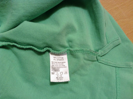 Green IZOD Size M Three Quarter Length Sleeves Collared Polo Top image 10