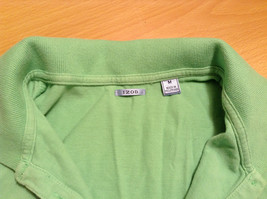 Green IZOD Size M Three Quarter Length Sleeves Collared Polo Top image 9
