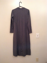 Gray V Neck Long Sleeve Real Comfort by Chadwicks Long Dress Size Medium image 2