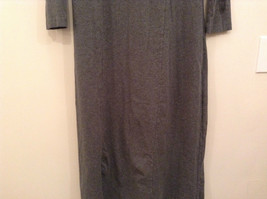 Gray V Neck Long Sleeve Real Comfort by Chadwicks Long Dress Size Medium image 8