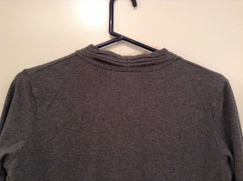 Gray V Neck Long Sleeve Real Comfort by Chadwicks Long Dress Size Medium image 6