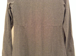 Gray V Neck Long Sleeve Real Comfort by Chadwicks Long Dress Size Medium image 7