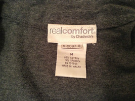 Gray V Neck Long Sleeve Real Comfort by Chadwicks Long Dress Size Medium image 9