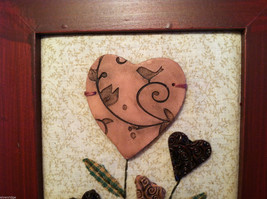 """Framed Basket of Wooden Heart Flowers with """"XOXOXO"""" tag wall art image 3"""