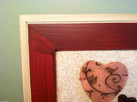 """Framed Basket of Wooden Heart Flowers with """"XOXOXO"""" tag wall art image 2"""