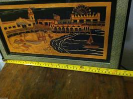 Framed Beach Boardwalk Funland Paper Cutting Wall Decor Scherenschnitte image 7