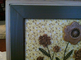 "Framed Basket of Wooden Flowers with ""Believe"" tag wall art image 2"