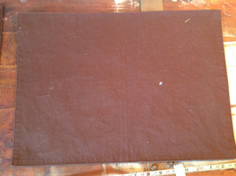 Four Brown Suede Like Material Dinner Placemats Very Sturdy Material image 4