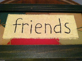 """""""Friends"""" Hand Stitched into Quilted Lid of Black Wooden Box image 3"""