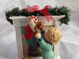 Hallmark Keepsake Reaching for Christmas Ornament Scene Near Fireplace Ornament image 2