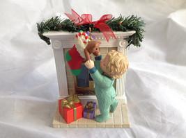 Hallmark Keepsake Reaching for Christmas Ornament Scene Near Fireplace Ornament image 8
