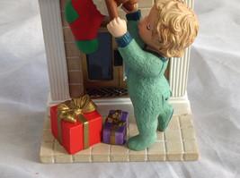 Hallmark Keepsake Reaching for Christmas Ornament Scene Near Fireplace Ornament image 3