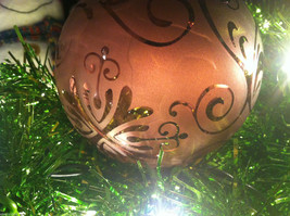 Frosted Hand blown large heirloom glass Christmas ornament in Vintage Red image 4