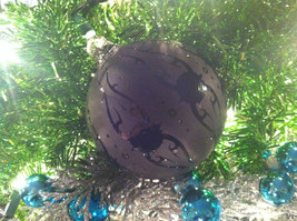 Frosted Hand blown large heirloom glass Christmas ornament in Matted Coal image 5
