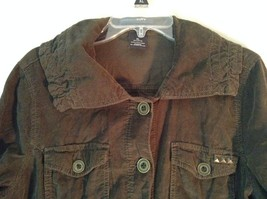French Cuff Size XL 100 Percent Cotton Green Jacket with Studs image 3