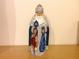 Hand Painted Wood Russian Christmas Santa  De Brecht Collection Good Condition image 6