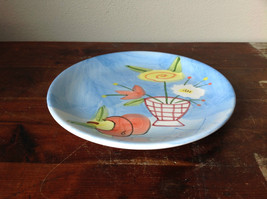 Hand Painted Decorative Ceramic Plate Saucer Flowers and Fruit image 2