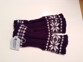 Fun Snowflake snow knit fingerless mittens 6 color choices holiday gift image 3