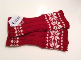 Fun Snowflake snow knit fingerless mittens 6 color choices holiday gift image 8