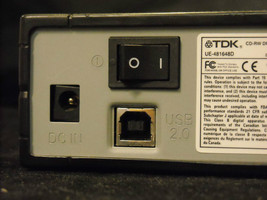 Functional TDK CD-Rw drive w USB and AC cable image 6