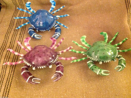 Funny wiggly beach crab  magnet in choice of colors blue purple green image 5