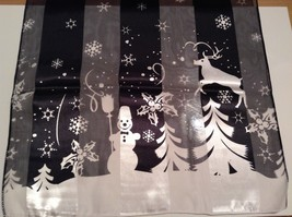 Fun Snowflake reindeer holly snowman silky dress scarf color choice NEW image 8