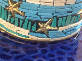 Funky Boho Handcrafted Blue Teal White  Starfish Costume Seashore India Bracelet image 5