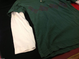 GAP Kids Layered Long Sleeve Polo Green w Argyle and White Sleeves size Large L image 5