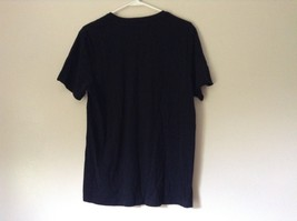 H and M Black V Neck Short Sleeve 100 Percent Cotton Soft T Shirt No Size Tag image 5