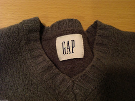 GAP Gray V-neck Sweater, NO Size Tag (see measurements below) image 8