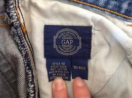 GAP Medium Blue Denim Jeans 5 Pockets Button and Zipper Closure Size 10 Regular image 8