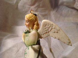 Hallmark The Gift of Love Green Holiday Angel Ornament Ribbon for Hanging image 5