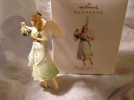 Hallmark The Gift of Love Green Holiday Angel Ornament Ribbon for Hanging image 6