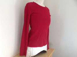 GAP Red Basic Long Sleeve Shirt Size Medium image 3