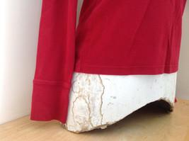 GAP Red Basic Long Sleeve Shirt Size Medium image 4