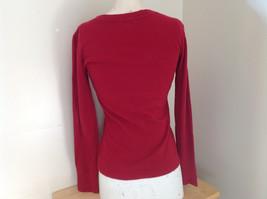 GAP Red Basic Long Sleeve Shirt Size Medium image 5