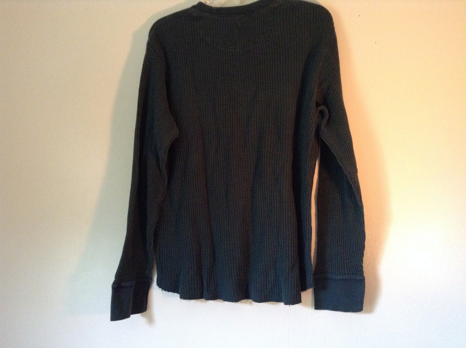 GAP Size Large Long Sleeve Athletic Fit Green 100 Percent Cotton Shirt