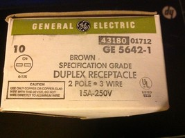 GE 5642-1 43180 01712 Duplex receptacle outlet 2 pole 3 wire 15A 250V image 4